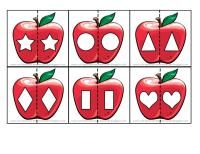 Preschool apple shape matching