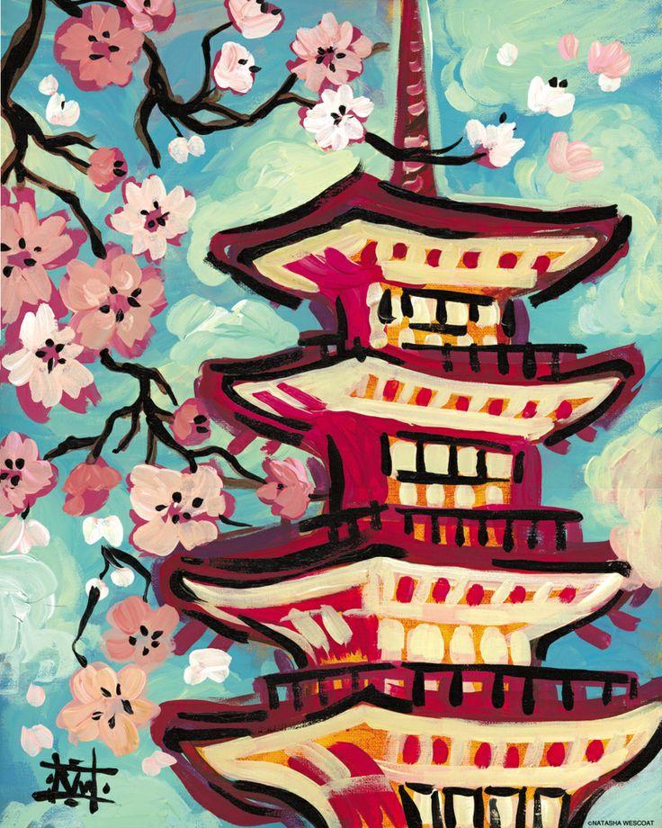 Япония картинки рисунки простые всей кажущейся