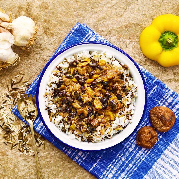 Ris med torkade fikon och bönsås! Receptet finns i meny 28. 😊💚  www.allaater.se