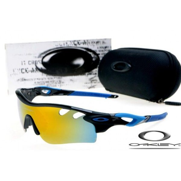 $13 - Cheap oakley free shipping radarlock path sunglasses polished black / fire iridium for sale