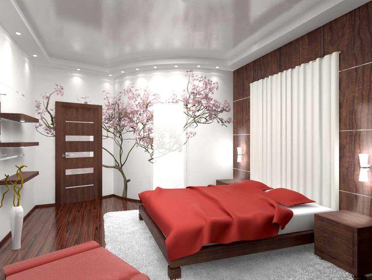 ►Натяжные потолки в спальню.  Спальня – это место отдыха и релаксации, поэтому в ее интерьере не должно быть ничего отвлекающего или раздражающего.