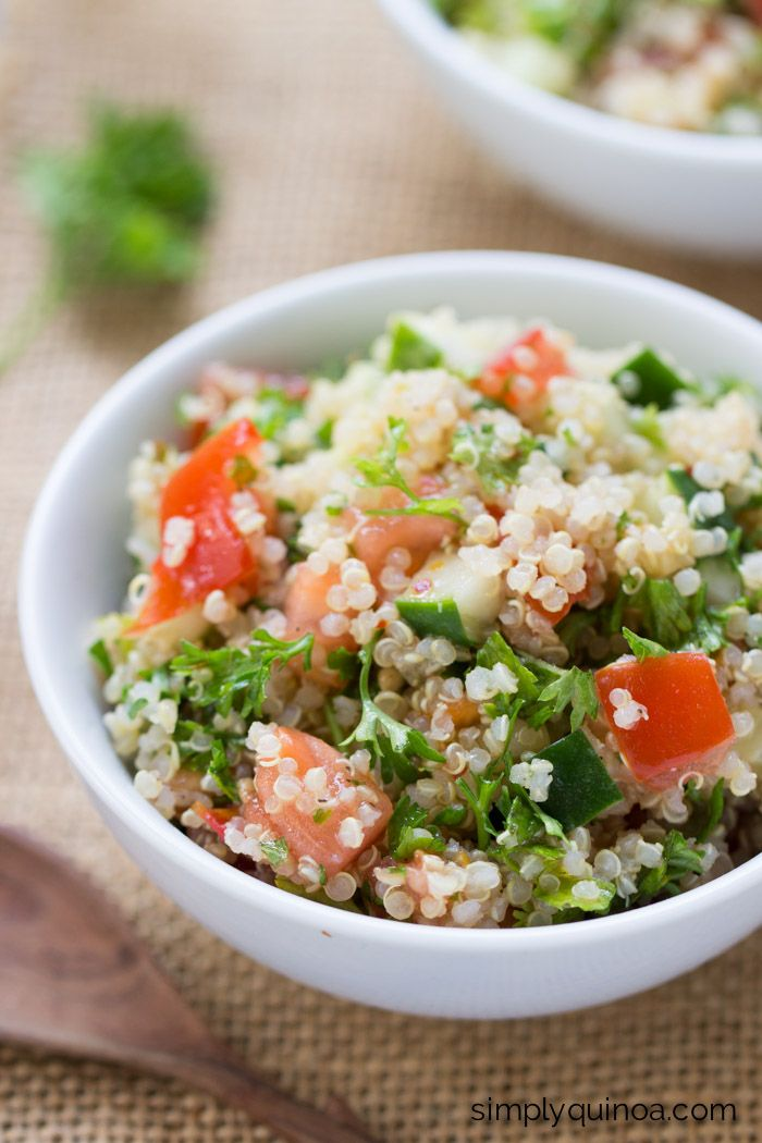 ... | Tabbouleh recipe, Tabbouleh salads and Quinoa chickpea salad