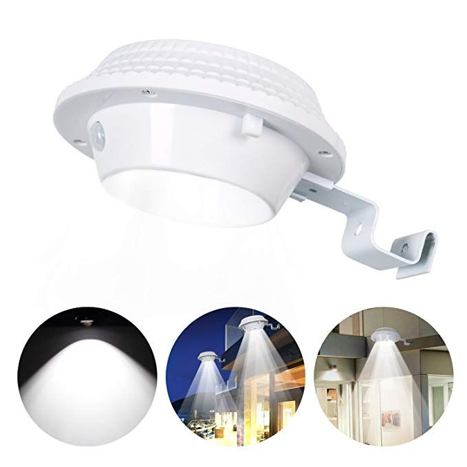Solar Gutter Lights Bright Pir Motion Sensor 12 Led Security Lights Waterproof Light Lamp Wireless Area Light Auto Dim Mo Security Lights Lamp Light Solar Lamp