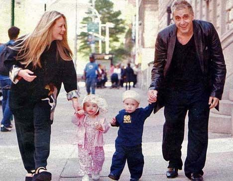 Beverly D'angelo & Al Pacino with their twins Anton James & Olivia Rose