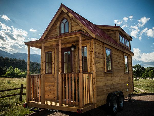 I really want to build this house! It has a loft for a bed and a tiny bedroom so our daughter would hopefully be able to stand growing up in a tiny house ;)