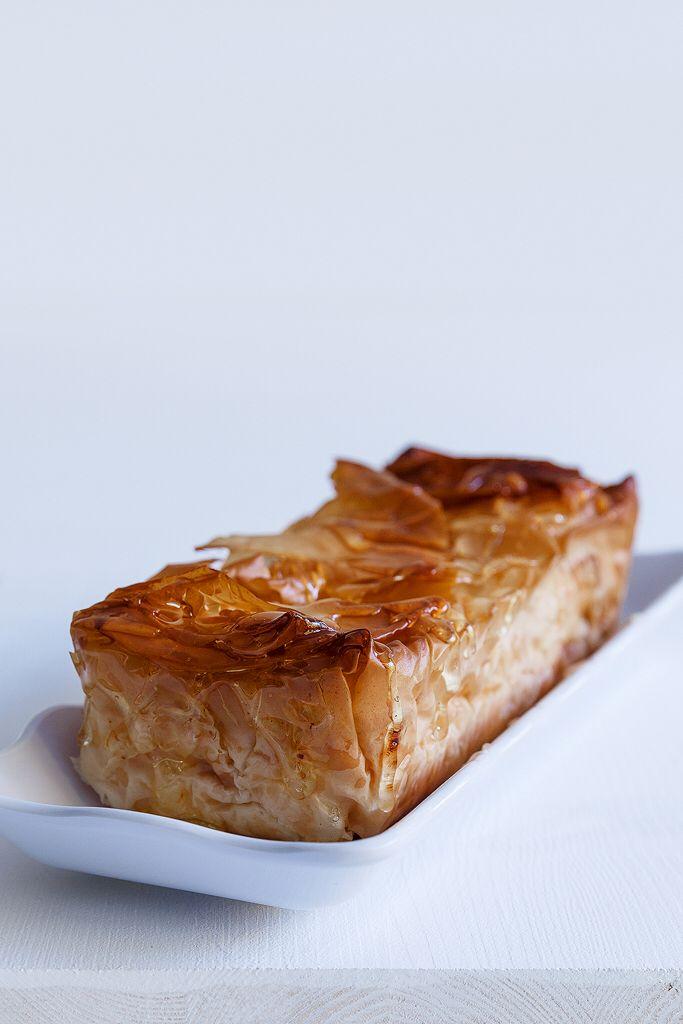 Cheese pie with filo dough and honey Anna- Maria Barouh http://www.instyle.gr/recipe/tiropita-me-portokali-piperia-ke-meli/