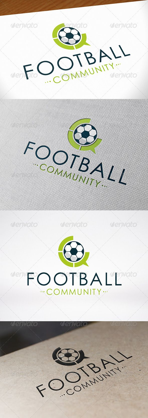 Football Chat  - Logo Design Template Vector #logotype Download it here: http://graphicriver.net/item/football-chat-logo-template/6826304?s_rank=402?ref=nexion