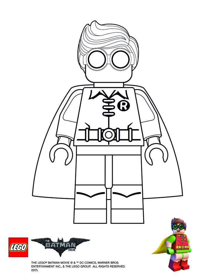 Lego Batman Movie Robin Coloring Page