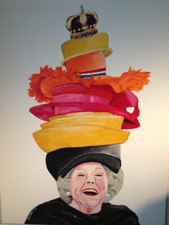 Koningin Beatrix  Ter inspiratie: dit kun je ook doen met een foto van Willem Alexander. Laat de kinderen een kroon voor hem ontwerpen!