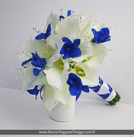 1000 id es sur le th me lys calla sur pinterest - Bouquet mariee bleu ...