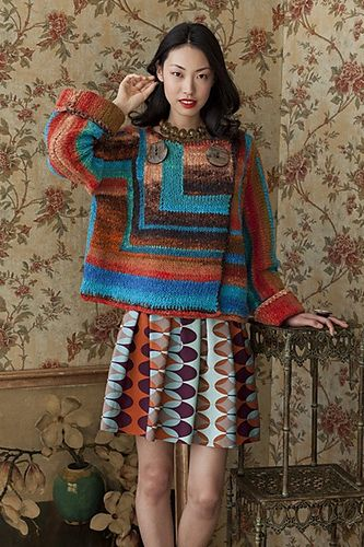 Ravelry: Patchwork Jacket pattern by Galina Carroll  Colors!