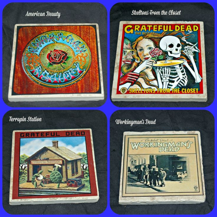 Grateful Dead Album Covers on Coasters! by STLCool on Etsy
