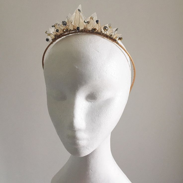 Something a little bit fairylike in the shop today - delicate sheer leaves on this tiara crown headband