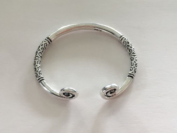 Shining Bee original Bali Style Silver Plated Bracelet 7.5""