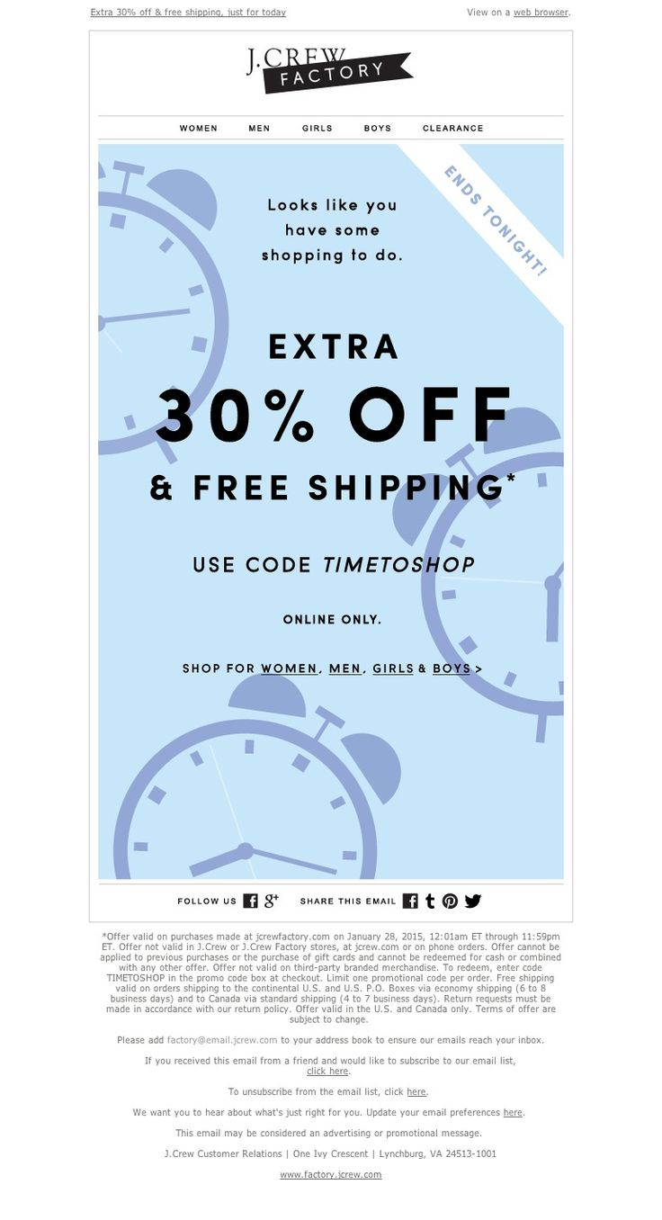 J.Crew - You know what time it is (flash-sale time)