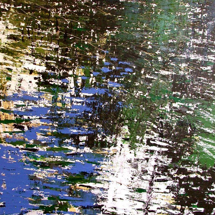 'Dog Walk', acrylic on canvas, 96cm x 96cm