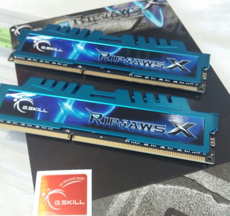 8GB G.Skill RipjawsX DDR3-1600 DIMM CL7  https://www.facebook.com/PCWhisperer.gr