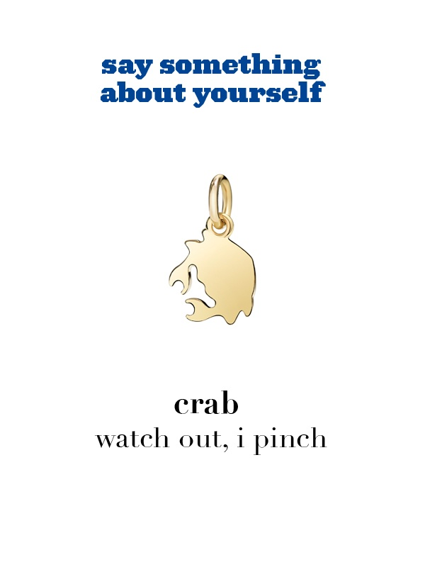 Dodo charm: crab - watch out, i pinch