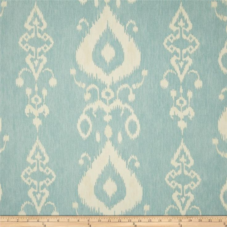 Swavelle/Mill Creek Tullahoma Ikat Ice Cap - very friendly with the fabric directly above :-)