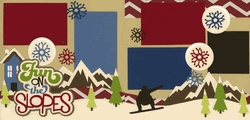 Fun On The Slopes-Snowboard Page Kit out on a limb scrapbooking