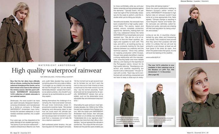 WATERDICHT Amsterdam  DISCOVER BENELUX 3 december 2014