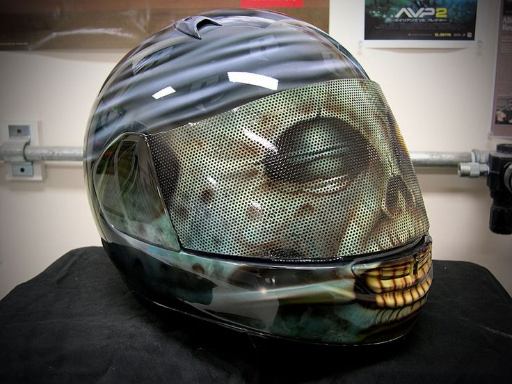 Custom Painted Motorcycle Helmets Zombie Motorcycle Helmet A - Vinyl wrap for motorcycle helmets