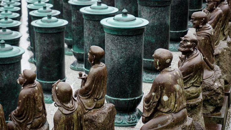 Mini Shrines Reclining Buddha Nanzoin Temple Fukuoka