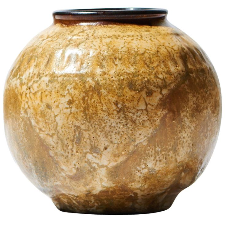 20th Century Ostrich Egg Vase by ÉMile Decoeur | From a unique collection of antique and modern vases at https://www.1stdibs.com/furniture/dining-entertaining/vases/