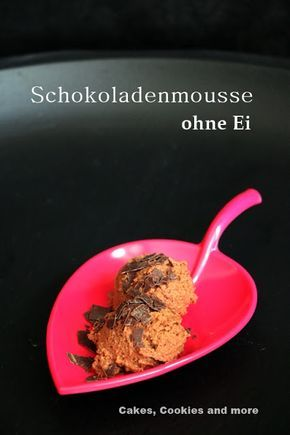 Schokoladenmousse ohne Ei - mit Aquafaba