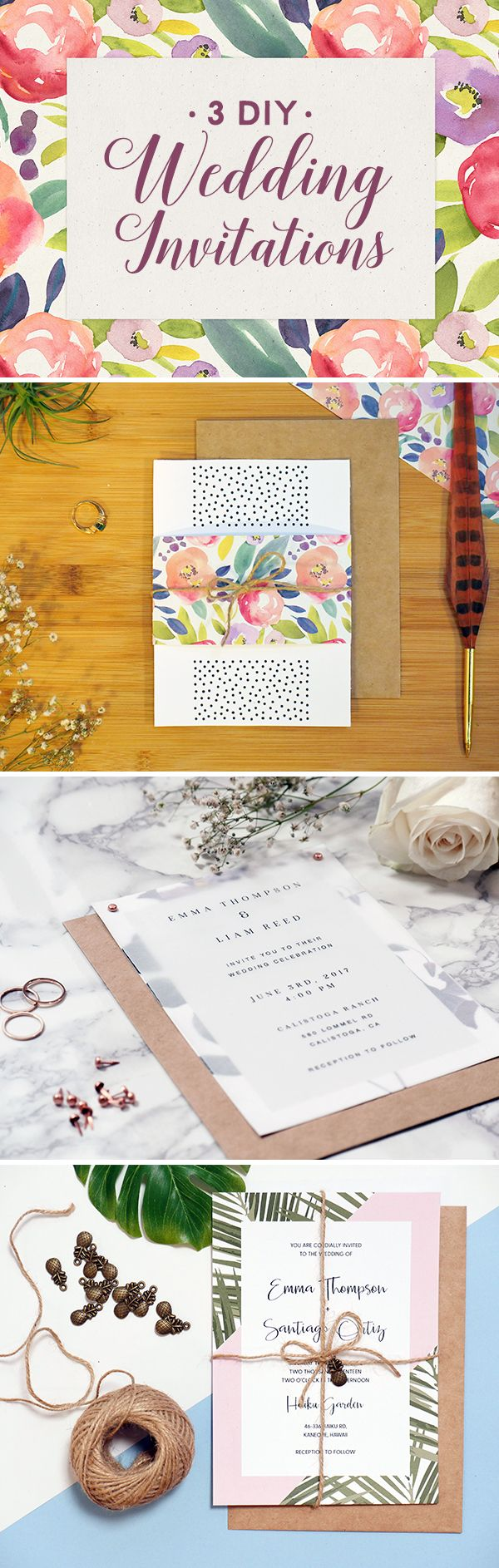 3 DIY Wedding Invitations That Are Unique