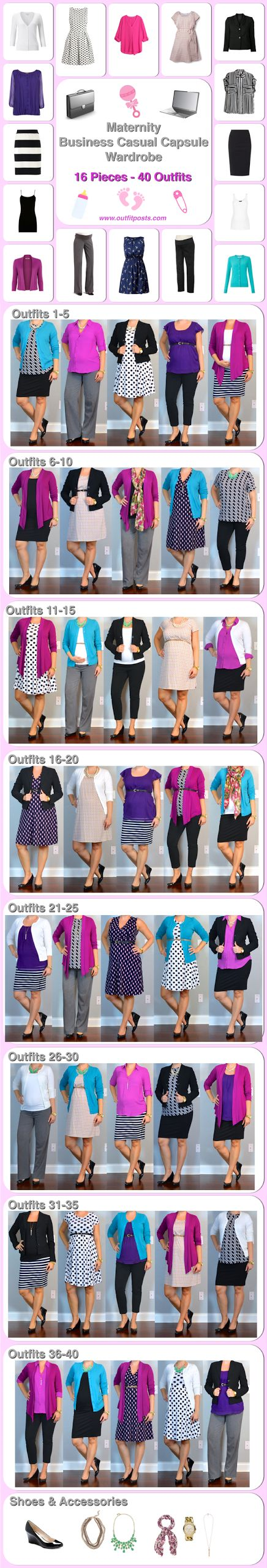 Outfit Posts: maternity capsule wardrobe: business casual