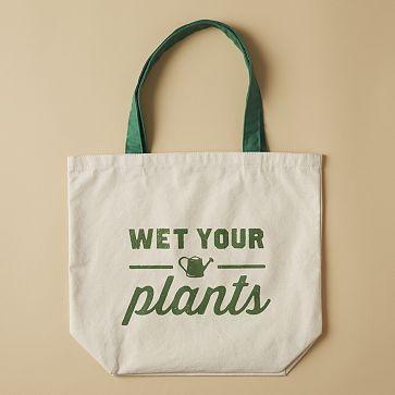 Market Tote Bag - Wet Your Plants #westelm