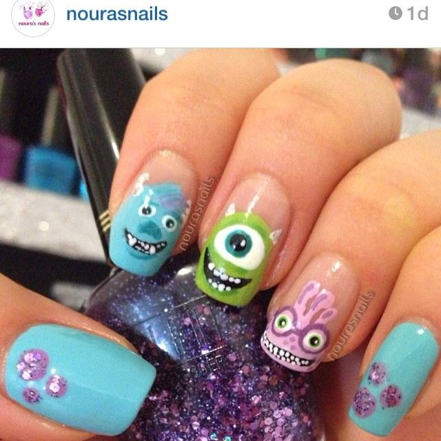 monster nails ideas