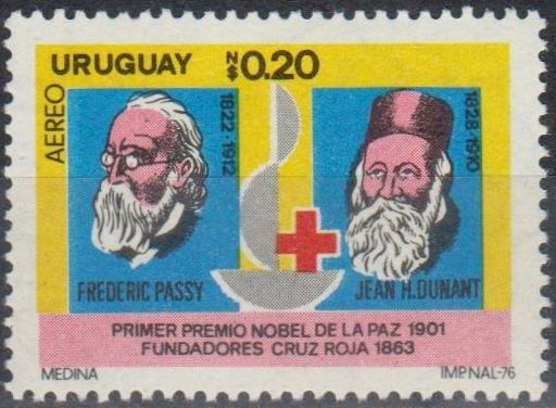 Uruguay - Red Cross Airmail Postage Stamp, 1976.