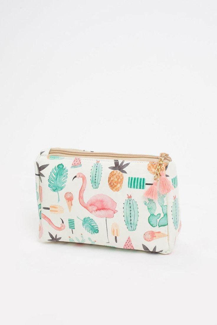 Printed Makeup Bag, Cute Makeup Bags for Women, Pineapple Print Makeup Bag, Morning Lavender Boutique