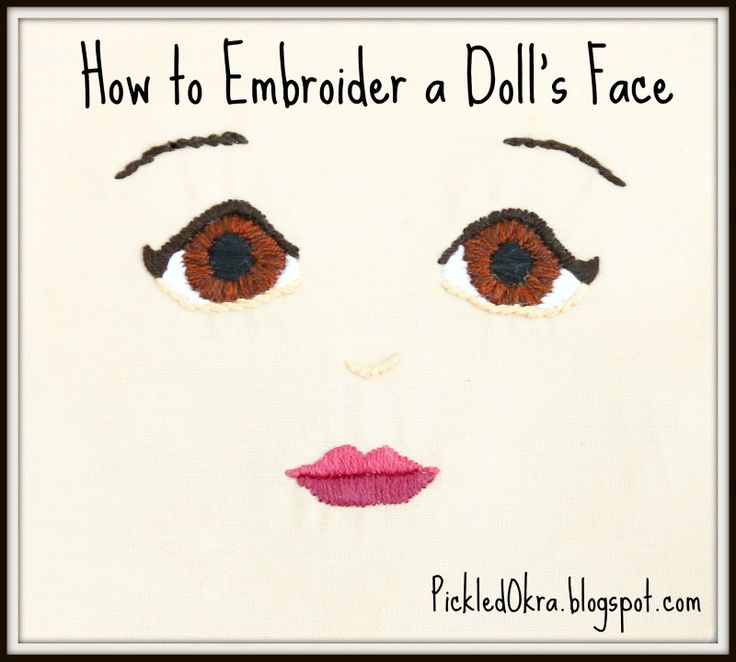 How to Embroider a Doll's Face v2. Easy to use tutorial!