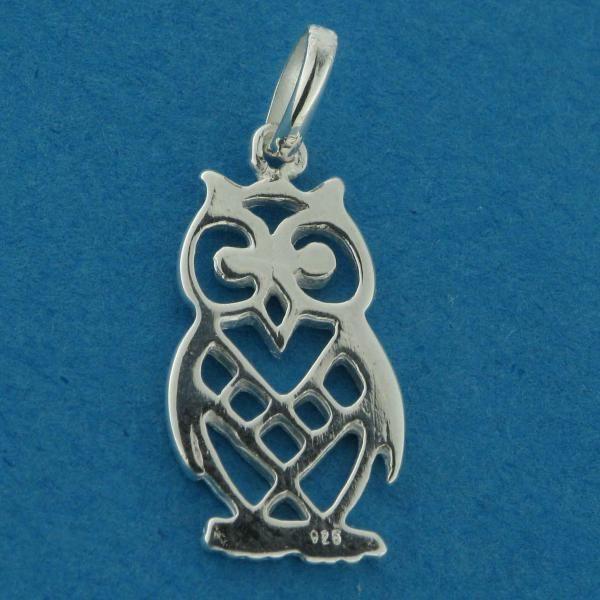 Sterling Silver Filigree Owl Charm