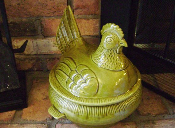 Chicken Soup Tureen  California Pottery C40 by EclecticGals, $46.99