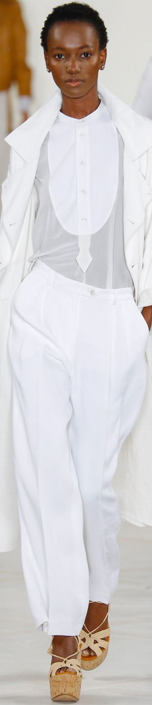 RALPH LAUREN SPRING 2016 RTW all white. women fashion outfit clothing style apparel @roressclothes closet ideas