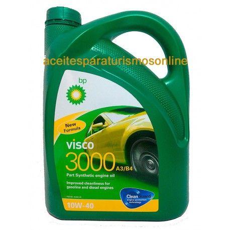 ACEITE COCHE BP VISCO 3000 A3/B4 10W40 5L. 19.90€ Envios a toda España. Aceites de coche. potente y eficaz. Visita nuestra web aceitesparaturismosonline.com