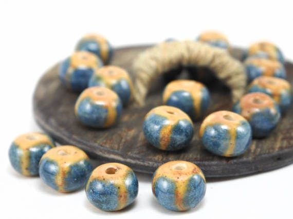 Summer beads for jewelry making! #ceramics #pottery #colorful #etsy #beads #handmade