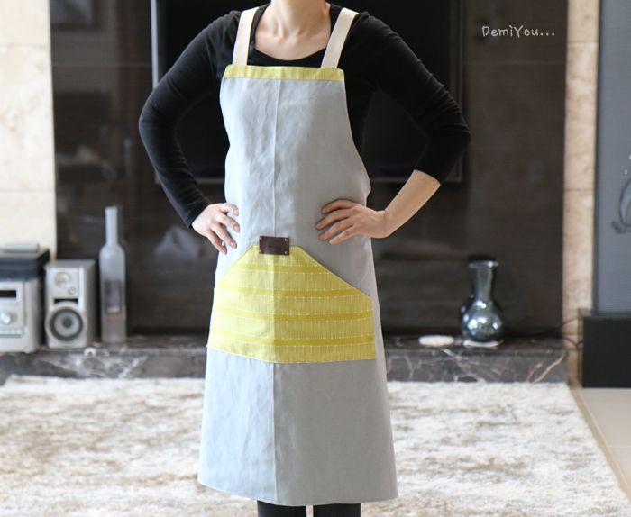 sewing modern apron