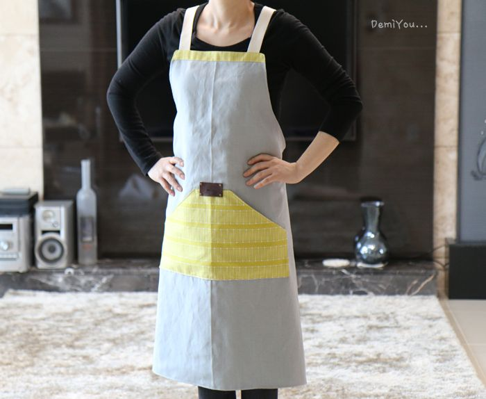 sewing modern apron
