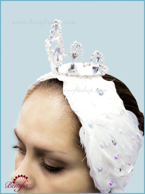 Headpiece for white swan (Odette) - S 0017  USD 191 - for adults
