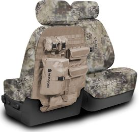 Functionality meets style – our Tactical packages our military style MOLLE (Modular Lightweight Load-carrying Equipment) system with the brand's stealth camo design. The MOLLE convenient fits on the back-side of the seat, allowing for that extra storage.