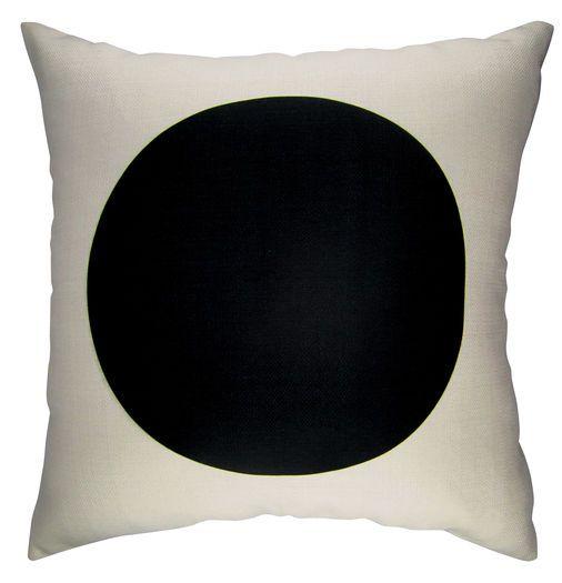 Large Black Dot Cushion