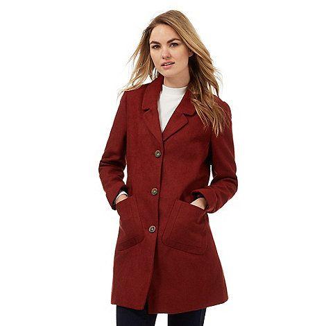 Red Herring Terracotta city coat | Debenhams