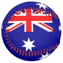 Patriotic Softball with flag of Australia