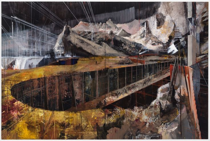Tim Kent - The City Upon A Hill 2015 Oil on Canvas 80 x 100 inches