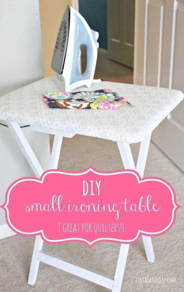 Turn an old card tray into an ironing table. | 37 Ingenious Ways To Make Your Dorm Room Feel Like Home http://www.buzzfeed.com/mikespohr/ways-to-make-your-dorm-room-feel-like-home?s=mobile